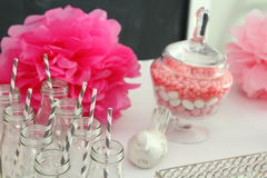 Baby shower decorations Royalty Free Stock Photo