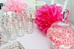 Baby shower decorations Royalty Free Stock Image