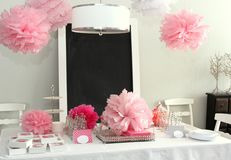 Baby shower decorations Royalty Free Stock Photography