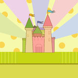 Baby shower. With decorative fairy castle vector illustration