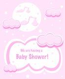Baby Shower design. A illustration of Baby Shower card design Stock Images