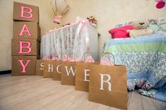 A baby shower design. In Stock Images