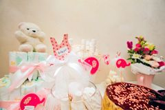 A baby shower design. Backgrounds Stock Photo
