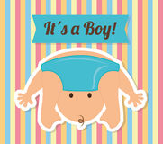 Baby Shower design Royalty Free Stock Images
