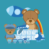 Baby Shower design Royalty Free Stock Image