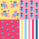 Baby shower design,cute quilts for baby. Patchwork and quilting pattern designs,baby shower background Stock Photos