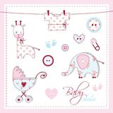 Baby shower design elements royalty free illustration