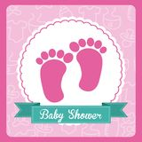 Baby shower design Stock Photo