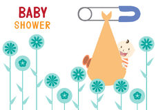 Baby shower design.  illustration Stock Image