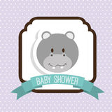 Baby shower. Design,  illustration eps10 graphic Royalty Free Stock Image