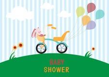 Baby shower design.  illustrations Royalty Free Stock Image