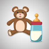 Baby shower design. invitation design.   illustration Royalty Free Stock Photo