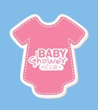 Baby shower design Royalty Free Stock Photography