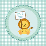 Baby shower design Royalty Free Stock Photo