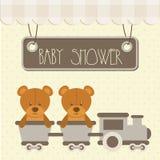 Baby shower. Design over dotted background vector illustration Stock Image