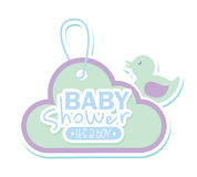 Baby shower design Stock Photography
