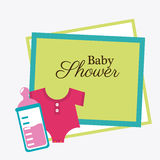 Baby shower design Stock Photos