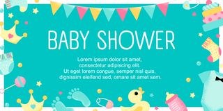 Baby Shower design poste royalty free illustration
