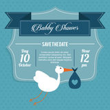 Baby Shower design. stork icon.  graphic Royalty Free Stock Photo