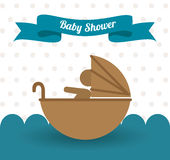 Baby shower design, vector illustration. Royalty Free Stock Photography