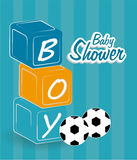 Baby shower design, vector illustration. Stock Images