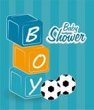 Baby shower design, vector illustration. Stock Images