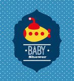 Baby shower design Stock Image