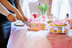 Baby shower dessert Royalty Free Stock Image