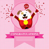 Baby Shower Dog. This is baby shower greetings. Vector format Royalty Free Stock Image