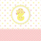 Baby shower with duckling Stock Image