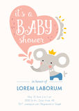 Baby Shower Elephant Card Stock Photography