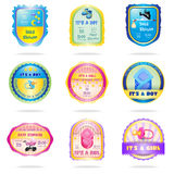 Baby shower emblems Stock Photo