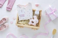 Baby shower för en behandla som ett barnflicka arkivfoto