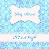 Baby shower flake background boy Royalty Free Stock Image