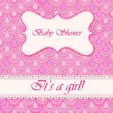 Baby shower flake background girl Stock Image