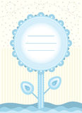 Baby shower flower card for baby boy Royalty Free Stock Photos