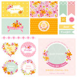 Baby Shower Flower Theme Royalty Free Stock Photo