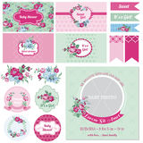 Baby Shower Flower Theme Stock Images