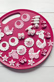 Baby shower fondant decorations Royalty Free Stock Images
