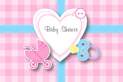 Baby shower frame background Stock Photo
