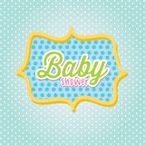 Baby shower frame Royalty Free Stock Image