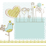 Baby shower with frame for text royalty free illustration
