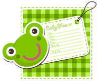 Baby Shower Frog Invitation Card Stock Photography