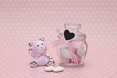 Baby shower. Gift and candy Stock Image