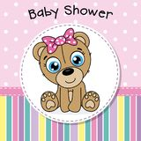 Baby shower girl stock illustration
