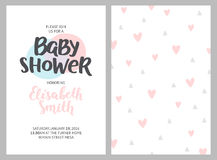 Baby shower girl and boy invitations Stock Photos