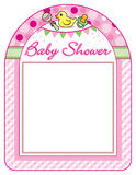 Baby shower girl frame print sheet Stock Images