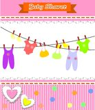 Baby shower girl Royalty Free Stock Images