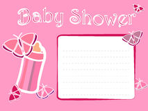Baby Shower Girl Invitation Card. Invitation card for a girl baby shower royalty free illustration