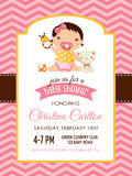Baby shower girl invitation Royalty Free Stock Photos